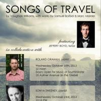 Songs of Travel Recital Poster October 2013
