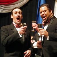 Pellegrini Opera - La Traviata - Gastone (Jeff Boyd) & Alfredo (Chris Oliviera) enter Flora's (Misty Banyard) party